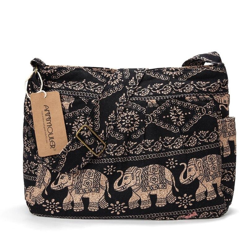 tecido crossbody saco tribal elefante impressão hobo