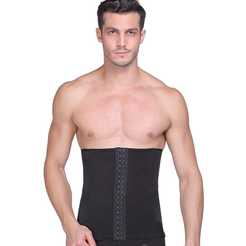 b8933d49c6 Men Slimming Waist girdle hook confirm belly belt tummy trimmer waist  Cincher Corset wrap abdomen control girdle-in Shapers from Men s Clothing    ...
