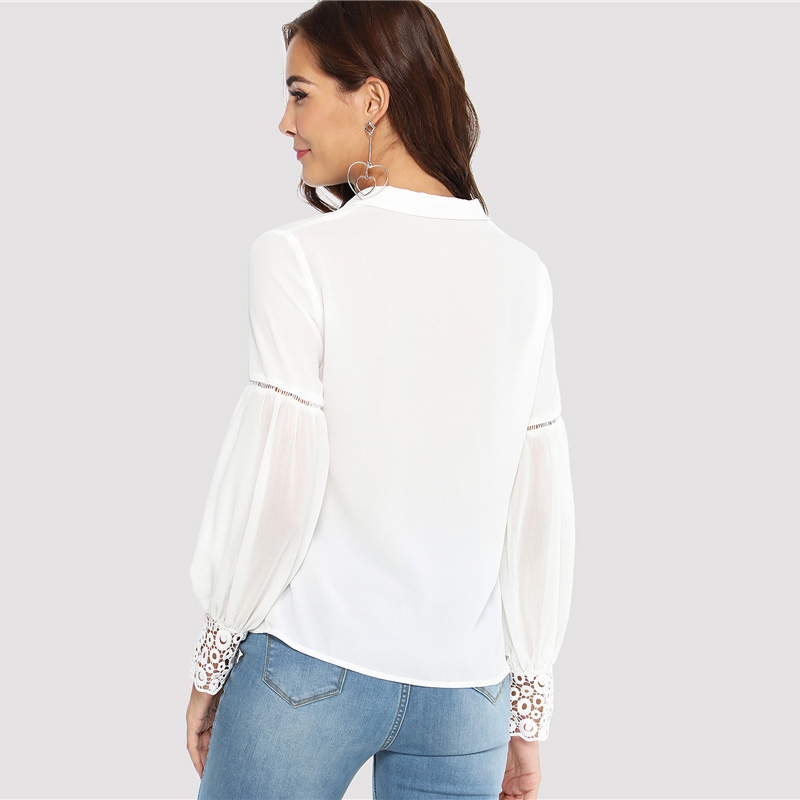 Lace Cuff Blouse