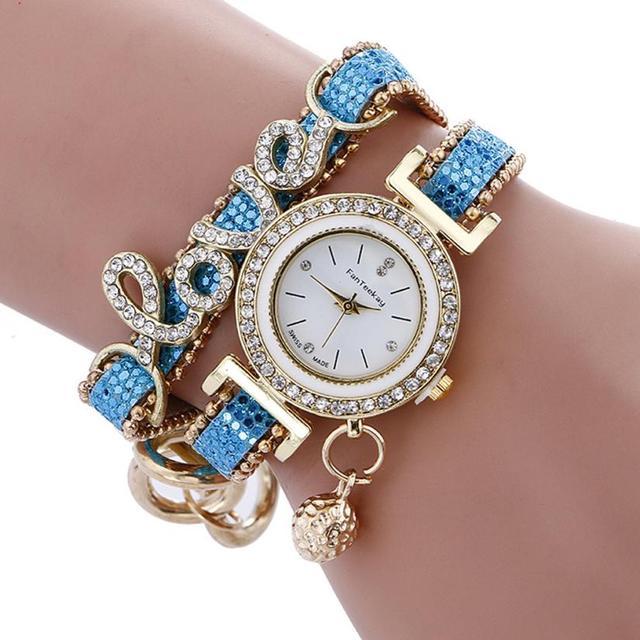 2017 Hot Sale Women Watches Girls Analog saat Quartz Wristwatch Ladies Dress Bra