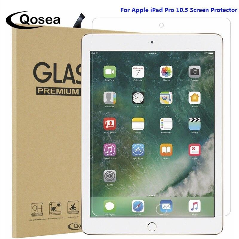 Qosea Pour Apple iPad Pro 10.5 Trempé 9 H Verre 2.5D Arc Clair Résistant Aux Rayures Pour Apple iPad Pro 10.5 Écran Protecteur Film