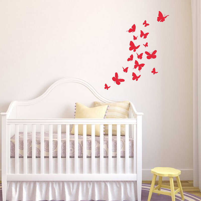 Butterflies Wall Decal Animals Wall Sticker For Nursery Baby Room Decor Girls Bedroom Wall Decor Home Decorations L90 Animal Wall Stickers Wall Stickerstickers For Aliexpress