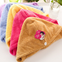 Women Bathroom Super Absorbent Quick-drying Microfiber Bath Towel Hair Dry Cap Salon 25x65cm