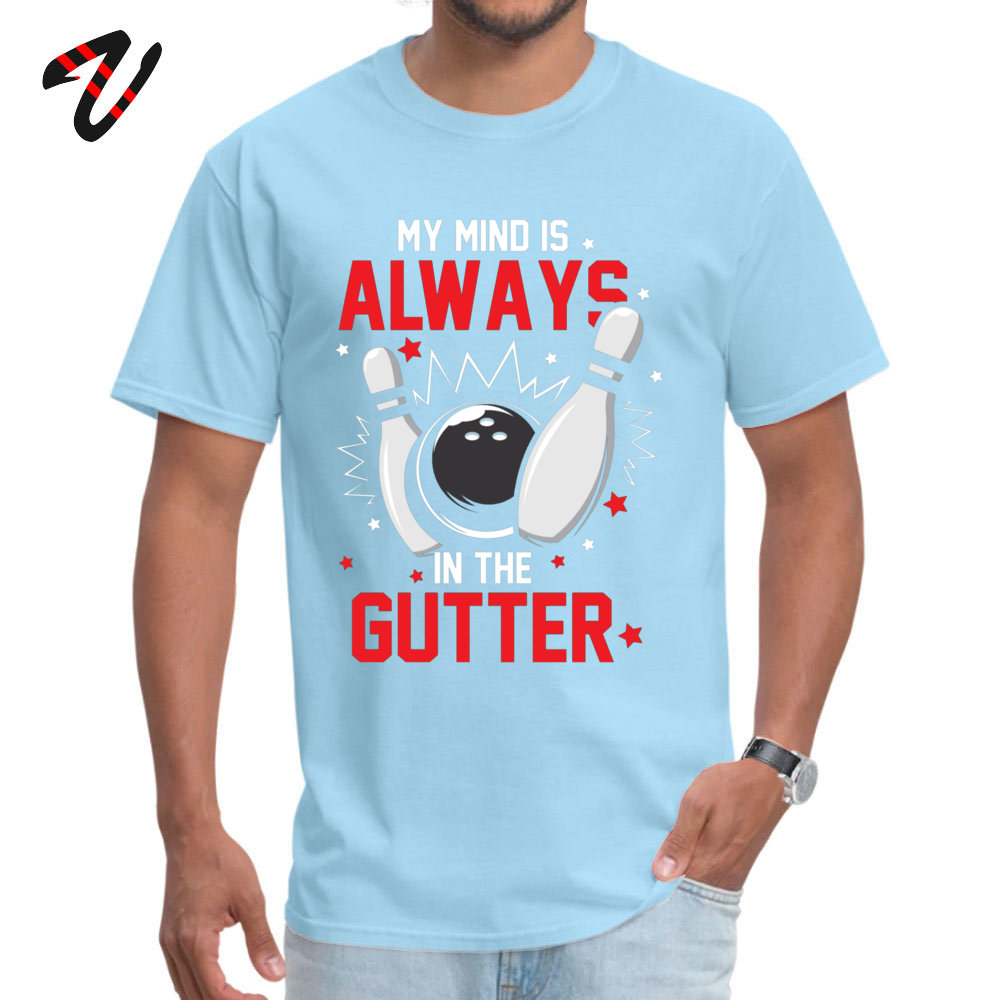 bowling Pure Cotton T Shirts for Men Short Sleeve Fitness Tight Tees Hot Sale Lovers Day Round Neck Tee Shirt Summer bowling16560 light