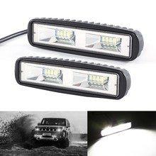 Niscarda пара 48 W 16 светодиодный свет работы бар автомобилей Вождение Противотуманные огни внедорожник внедорожные туманные лампы для стайлинга автомобилей