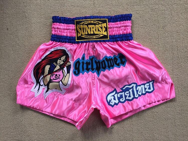 Prix pour Girl Power Rose MMA Shorts Muay Thai Short Boxe Kicking Shorts Arts Martiaux Livraison Personnalisable de Combat Combats De Boxe Porter