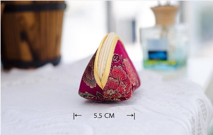 Designer Coin Purse Women Zipper Pouches Cheap Silk Small Gift Bags 5pcs /set mix Color
