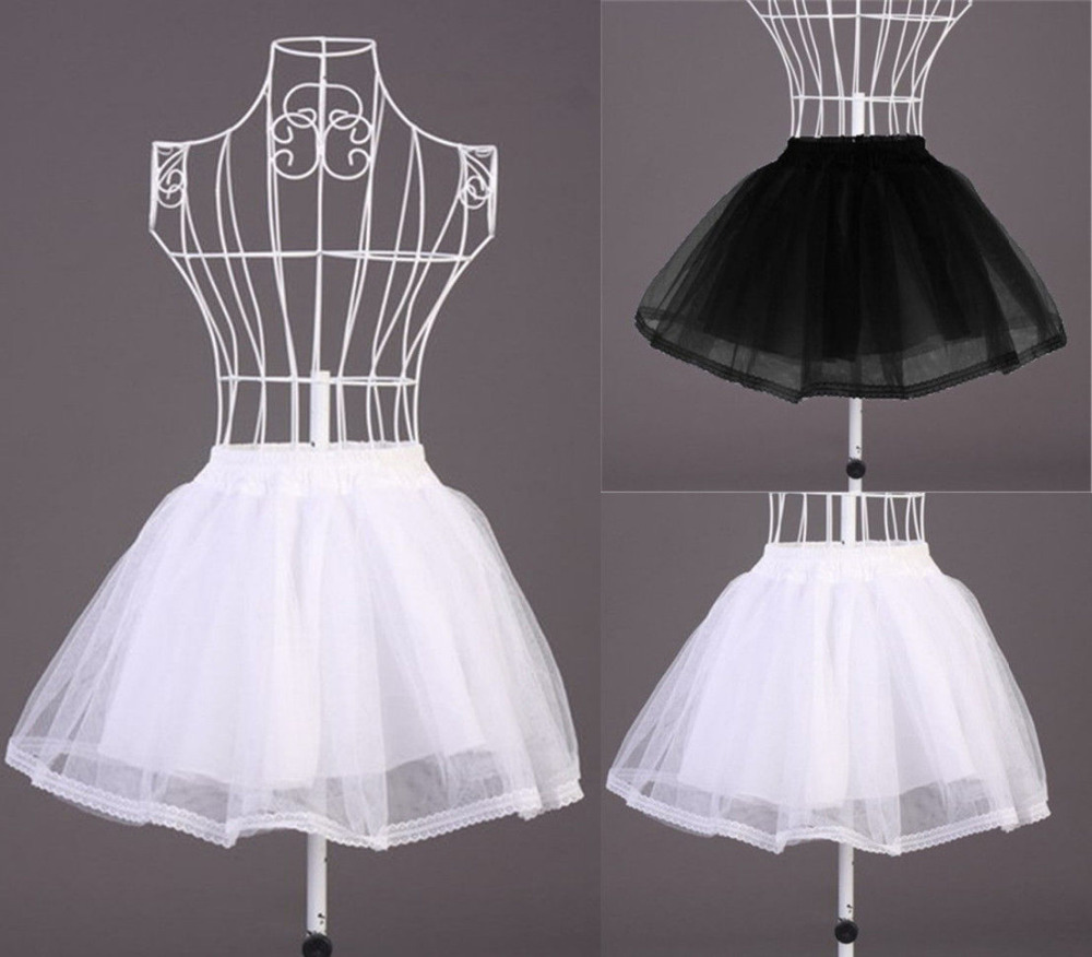 Vocole Black White Lolita Maid Sheer Double Layered Petticoat Skirt