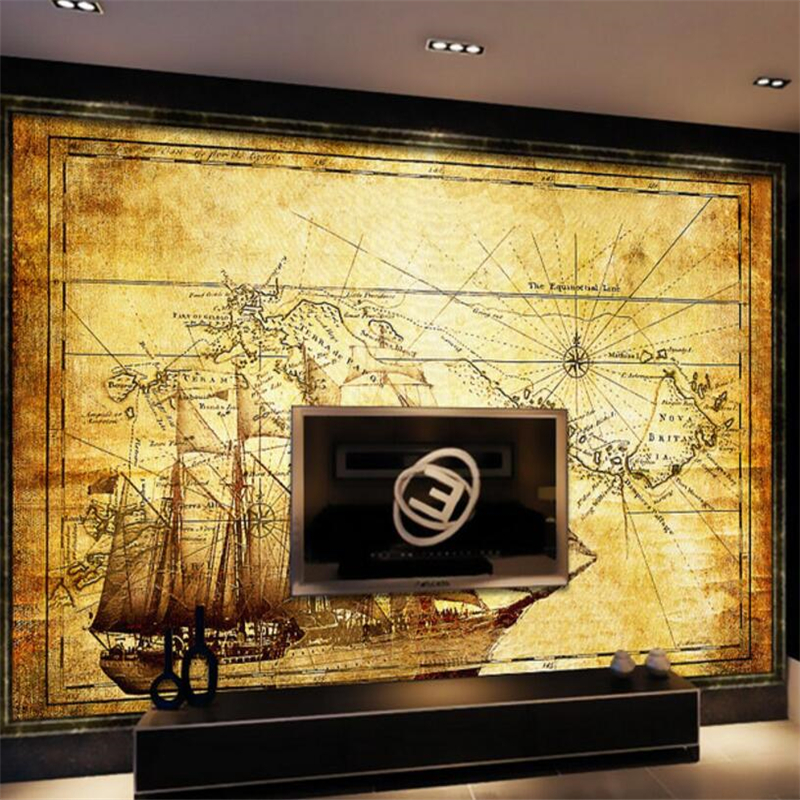 Online get cheap nautical wall murals for Cheap mural wallpaper