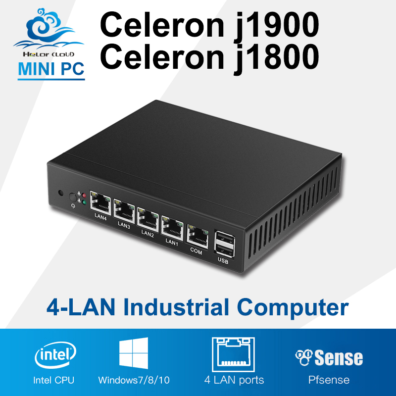 Mini PC Quad Core Tablet Fanless 4 LAN Router Firewall Celeron J1800 J1900 Windows 10/8/7 HTPC HD Graphics TV Box VGA 4 RJ45 ainol mini pc windows 8 1 quad core intel z3735f tv box 7000mah power bank page 3