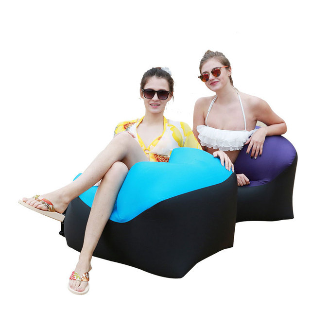 Outdoor Furniture Inflatable Camping Chair Beach Chair Sofa For Hiking Picnic And Fishing Rest Folding Air Lounge Sofa Bed