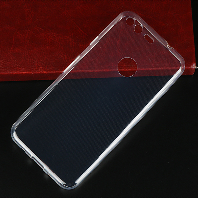 Transparent Full Cover For Google Pixel Pixel XL Silicon Clear Soft Back Google 2 2XL Invisible Phone Protective Case