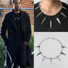 Moive Superhero Black Panther T'Challa Collana con ciondolo Catena Cosplay Costumi Accessorio per armature