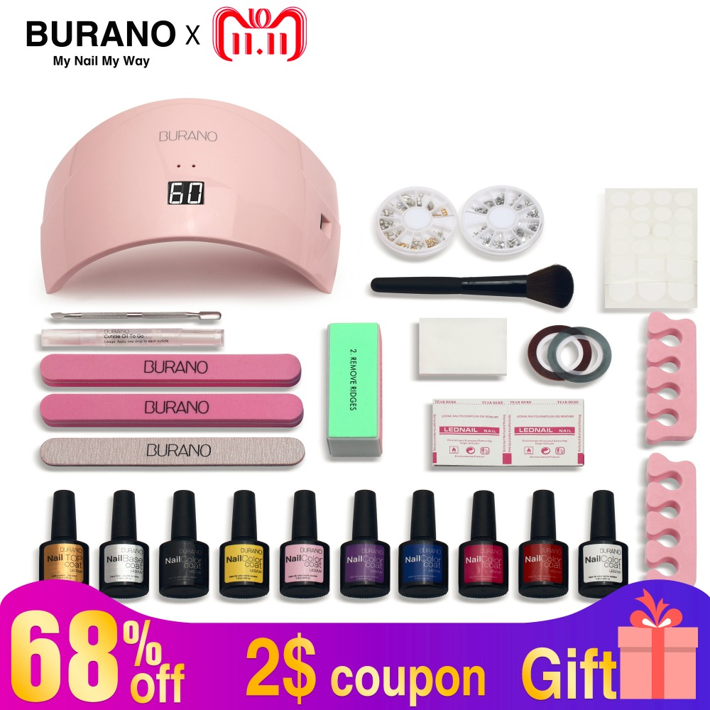 Nail kit Burano gel nail polish set manicure set nail kit polish uv gel nail art tools sets kits choose 8 colors patrisa nail дегидратор nail prep 8 мл