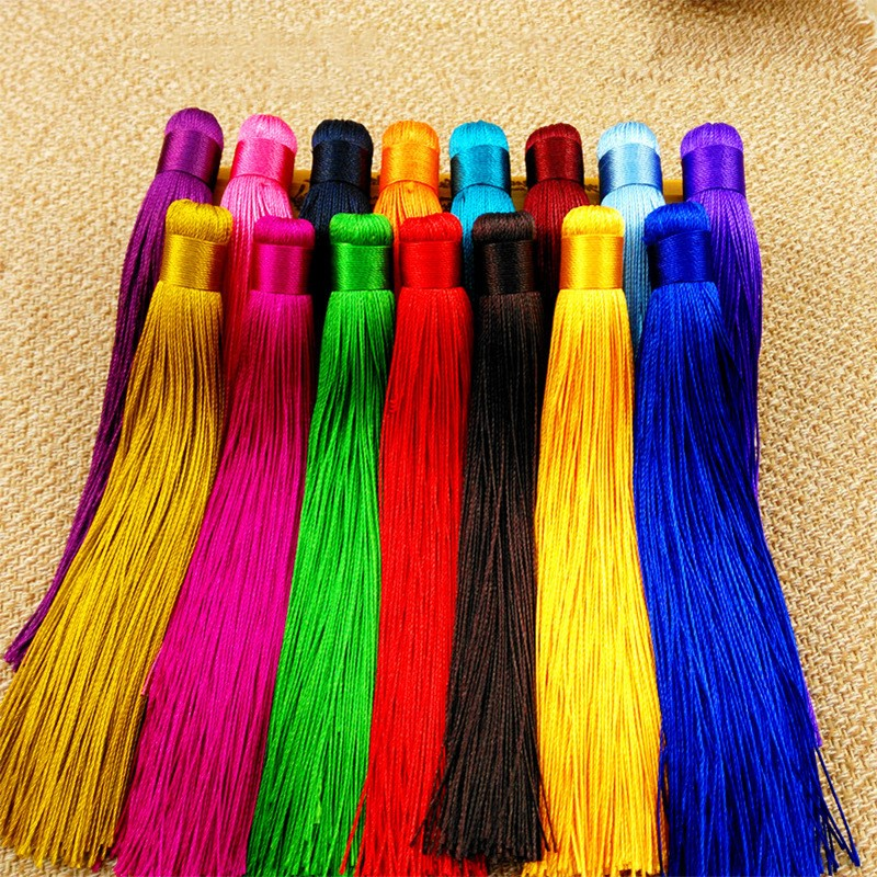 10pcs 12cm Colorful Cotton Silk Tassel Brush For Earring Charm Making Satin Tassels Pendant Diy Jewelry Findings Handmade Crafts