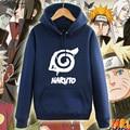 Halloween Naruto Konoha Hoodie Cosplay Costume Autumn Winter Sweatshirt Fleece Outwear Men Hoodies