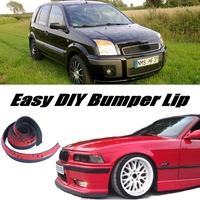 Bumper Lip Deflector Lips For Ford Fusion Front Spoiler Skirt For Car View Tuning / Body Kit / Strip