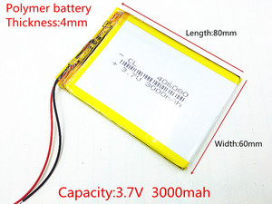 406080 3.7V 3000mah Lithium polymer Battery with Protection Board For VX787 VX530 VX540T VX585 Free Shipping