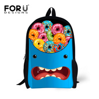 Funny Cartoon Emoji Face Women Backpack 3D Donuts Printing Girls School BagTeenager Students Kid Backpack Travel