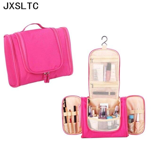 dfc126360903 Handbag beautician Fashion Man Toiletry Bag Travel Portable Women Cosmetic  Pouch Hanging Wash Bag Makeup Storage bags organizer