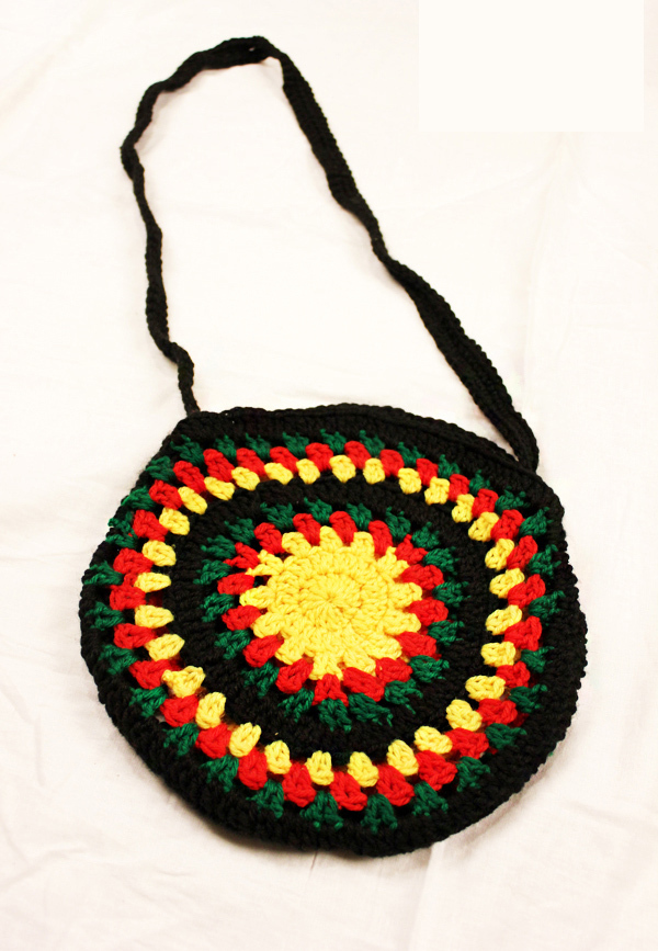 De Tote Sling Rasta Shoulder Ganchillo Boho Hippie Reggae Crossbody 4qL3A5jScR