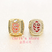 Free Shipping 2013 2014 2 Pic FSU Florida State Seminoles National Championship Rings Size 11 Set