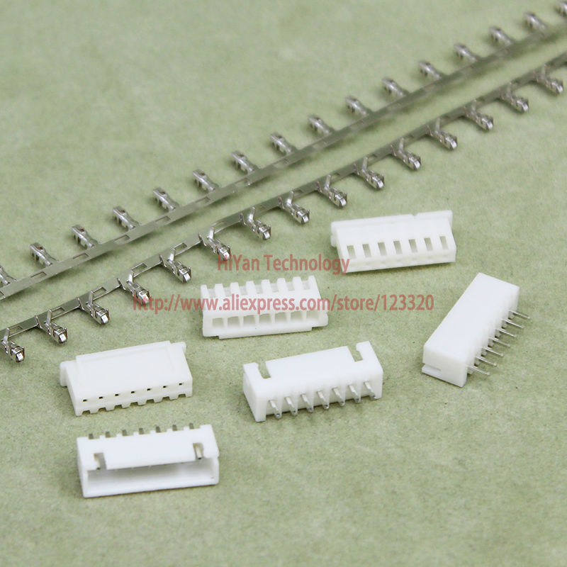 (100sets/lot) connector XH2.54 7Pin 180degrees Pitch:2.54MM/0.1inch Pin Header + Terminal + Housing XH2.54-7P