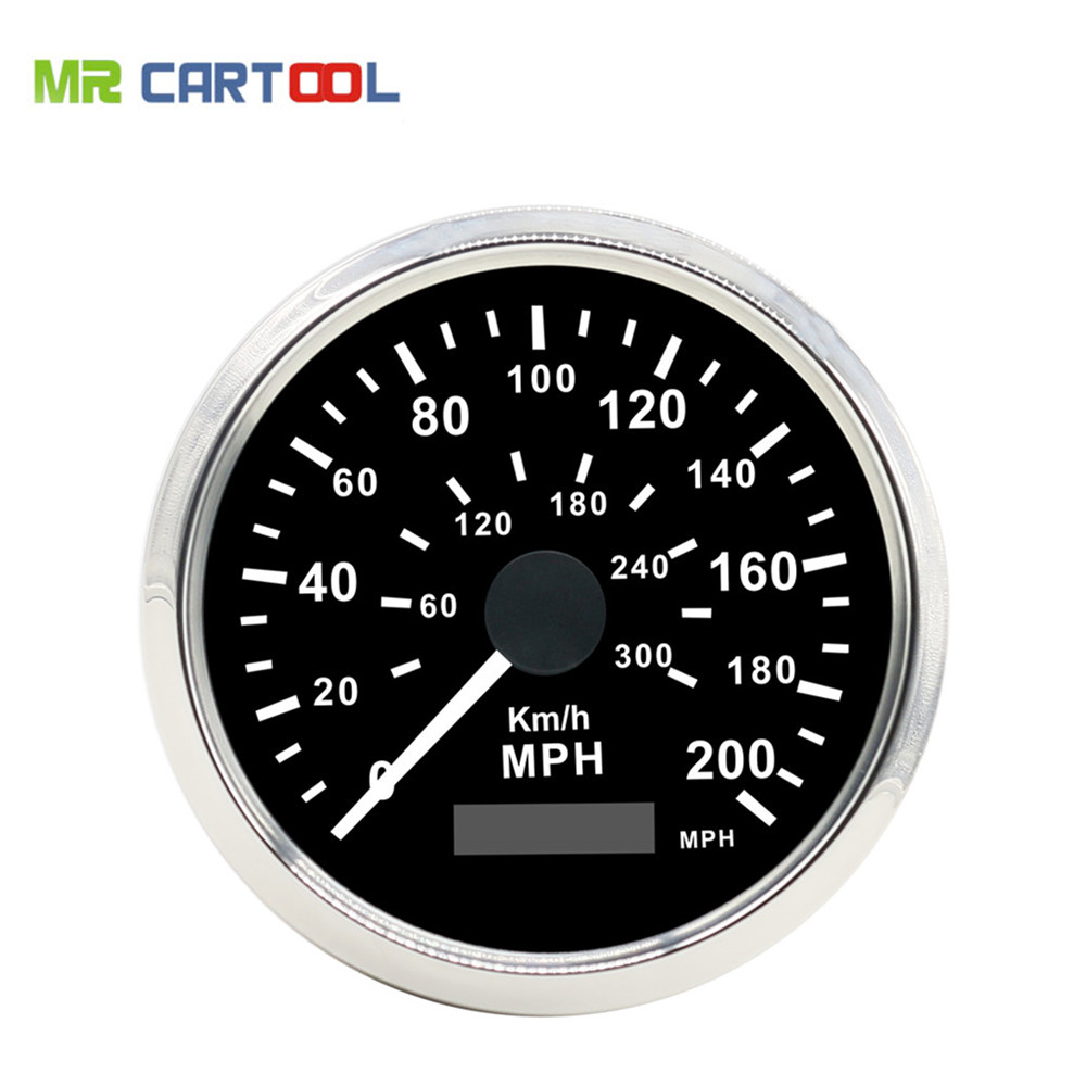 85mm GPS Compteur GPS Speedometer Stainless Waterproof Gauge 300KM/H 200MP/H Car Truck 85mm 12V 24V new arrival 85mm auto stainless digital tachometer 80x100rpm for engine car truck 12v 24v fast shipping