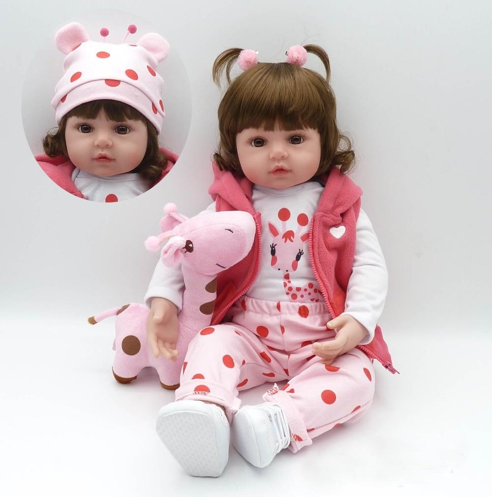 Bebe  22 55cm real  girl reborn soft silicone vinyl reborn baby dolls  high quality children gift dolls alive  bonecas монитор dell 17 e1715s tft tn 1715 8107