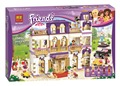 Chicas amigos heartlake grand hotel modelo diy juguetes de los ladrillos bloques de construcción niño compatible con lepin regalo