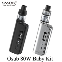 Electronic Cigarette Kit SMOK Osub 80W Baby Kit Vape Box Mod Vaporizer E Cigarette Hookah Mech Mod with TFV8 Baby Tank S052