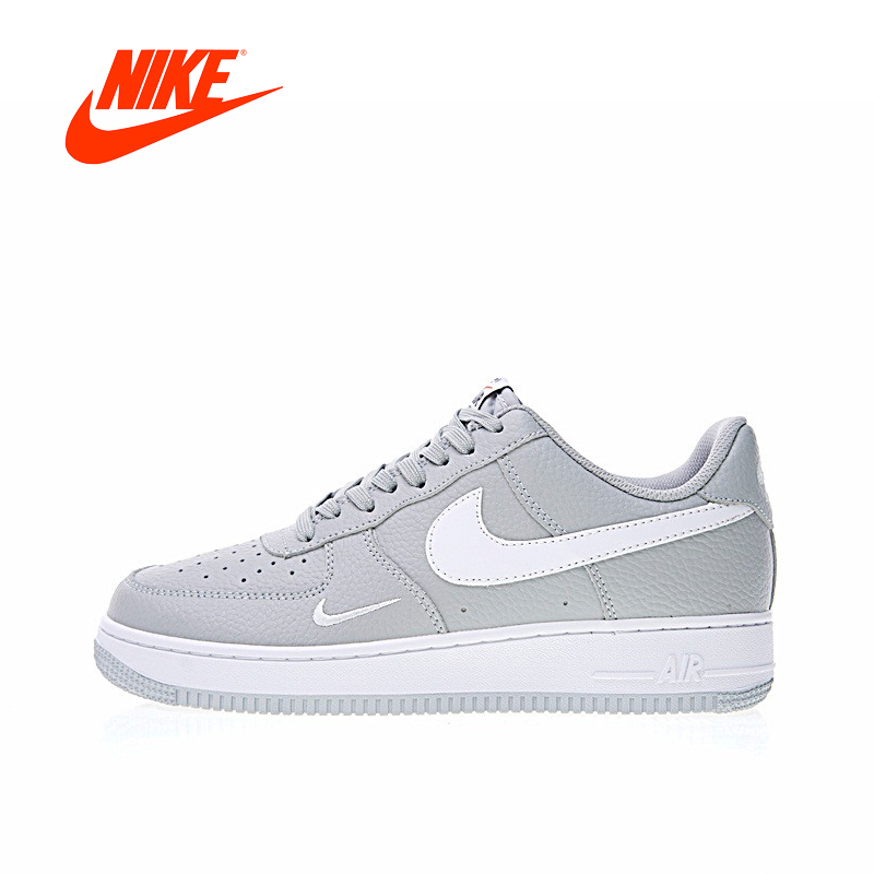 Original Nouvelle Arrivée Authentique Nike Air Force 1 Bas Mini Swoosh Hommes Planche À Roulettes de Chaussures de Sport En Plein Air Sneakers 820266- 018