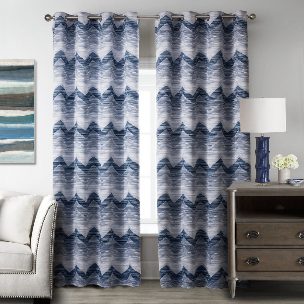 Blue bedroom window curtains - Blackout Curtains Blue For Living Room Curtains Drapes Luxury European Curtains For Bedroom 2017 Kitchen Curtain Window Sheer