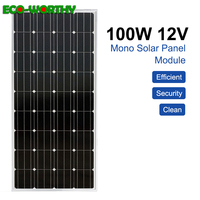 ECO Monocrystalline Solar Panel 100W 200W 300W 1000W 18V Battery Charger for RV Home Boat Garden Solar Power panels