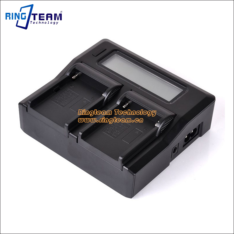 Dual-Channel LCD Charger for Sony NP-F Series Camcorder Batteries NP-F970 F960 F930 F750 F730 F570 F550 F990 F980 BC-V615