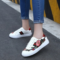 2018 summer wild lace flat shoes new casual shoes female summer embroidery shoes