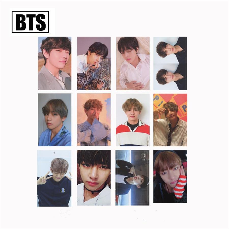Beads & Jewelry Making Bright Kpop Bts V Love Yourself Lomo Photo Card Bangtan Boys Kim Taehyung Autograph Photocard Cards 1pc Preventing Hairs From Graying And Helpful To Retain Complexion