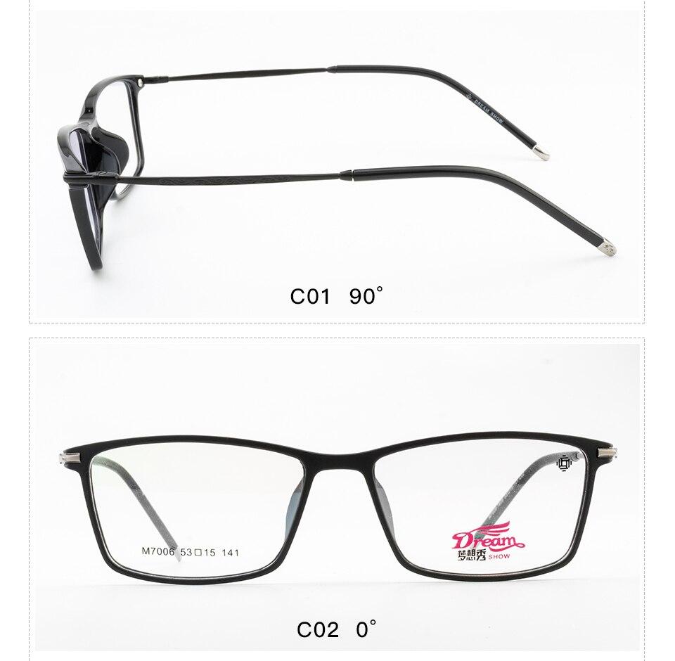 de1c1cd6f2e 2019 TR90 Men s Glasses Frame Optical Frame Eyeglasses Clear ...