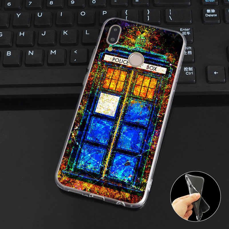 L255 cabine téléphonique souple couvercle de boitier en silicone TPU pour Huawei P8 P9 P10 P20 P30 Lite Pro P Smart Plus 2017 2019