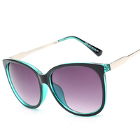 Wholesale 2015 Luxury Women Sunglasses Fashion Round Ladies Vintage Retro Brand Designer Oversized Female Sport Sun
