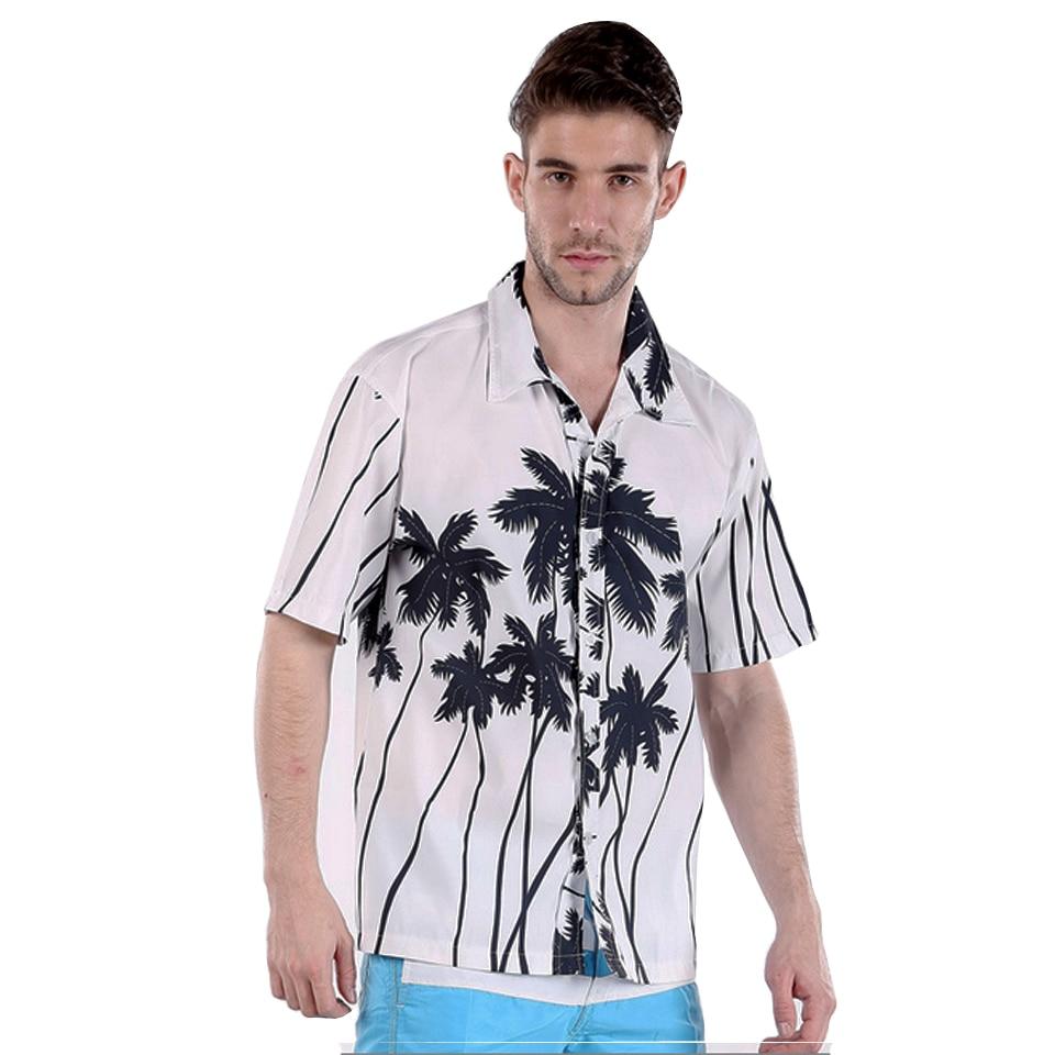 Mens Hawaiian Shirt Floarl Coconut Bărbați cu mânecă scurtă - Imbracaminte barbati