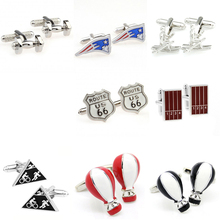 Fashion Dumbbell Sports Balloon Cufflink Cuff Link 1 Pair Free Shipping Big Promotion cheap Tie Clips Cufflinks Cuff Links TZG111 Stone Classic Simulated-pearl Stainless Steel Various