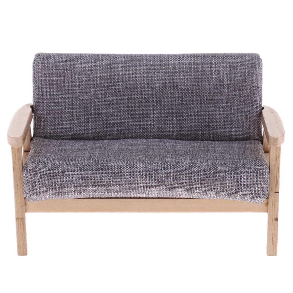 Divano flanella modello sedia per soggiorno 1//6 mobili casa delle bambole in