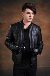 Free shipping ems brand men cow leather jackets men s genuine leather biker jacket motorcycle homme.jpg 250x250