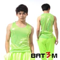 Original Neon Green Men Vest Male Clothing Camiseta Tirantes Hombre Personalized Singer Dance Stage Street Star