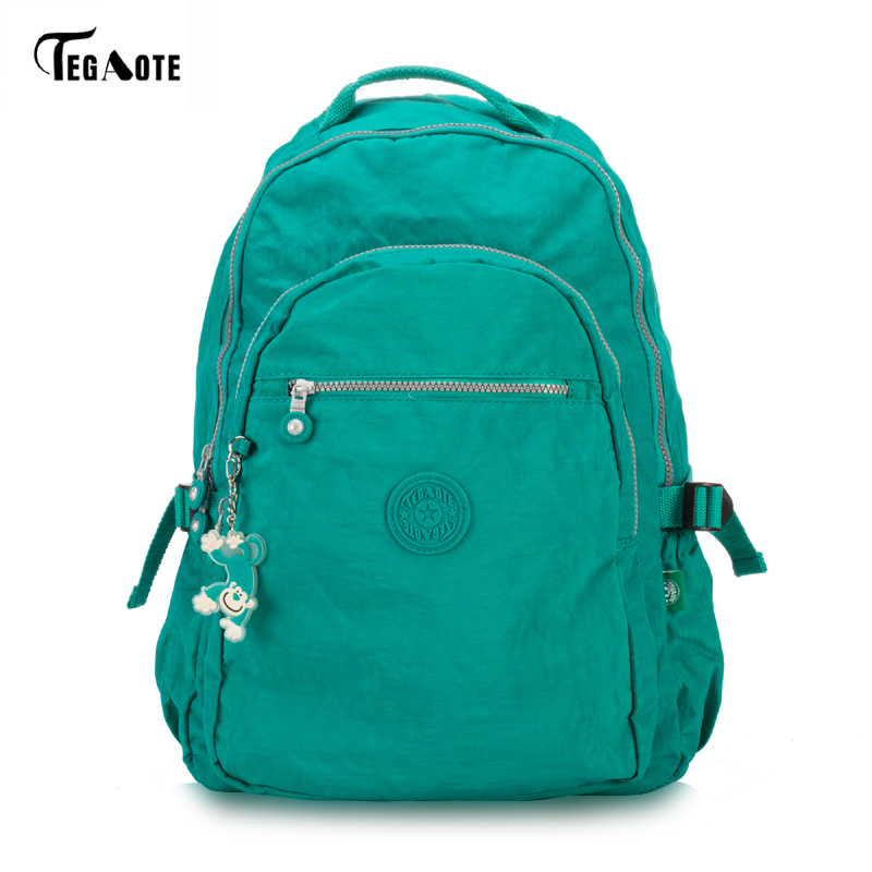 TEGAOTE 2017 Large Capacity Backpack for Teenage Girls Mochila Feminine Backpacks School Nylon Waterproof Bags for Men Women цена 2017