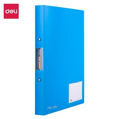 Deli 1 дюйм 2 уплотнительное кольцо Биндер A4 Цветной ПП файл E39576 - Цвет: Синий