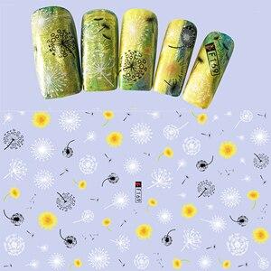 Image 3 - 1 sztuk moda wzór oczy paznokci suwak naklejki artystyczne 3D mieszane kolor projekt Nail Art dla 3D DIY dekoracje naklejka porady BEF166 573