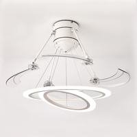 Ceiling Fans Modern Creative Simple Invisible Fan Light Living Room Dining Room Bedroom