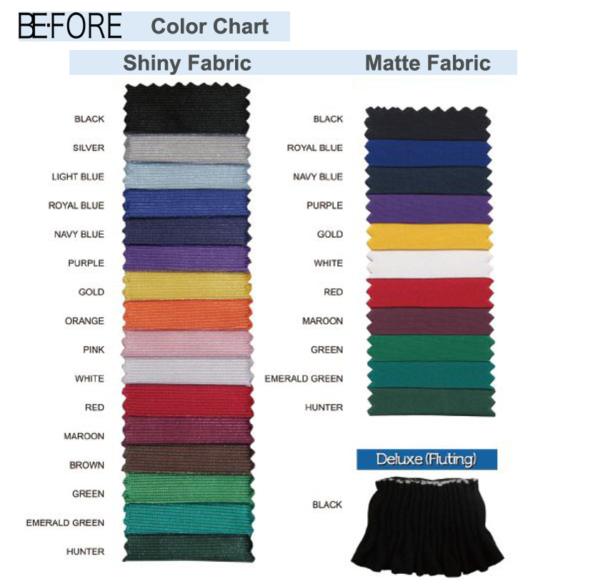 BE-FORE Color Chart